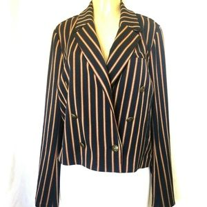 NWT Free People Striped Jacket Blazer Double Breas